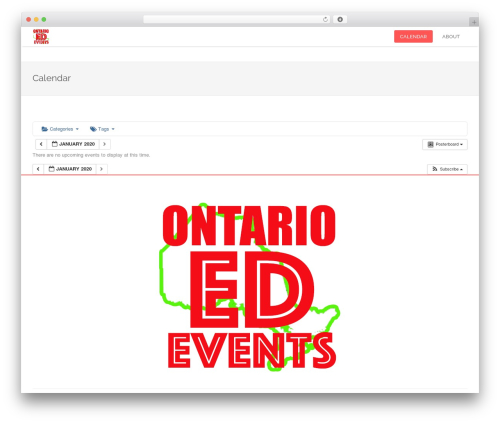Template WordPress edsbootstrap - ontarioedevents.com