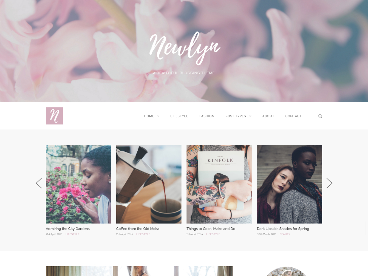 WordPress theme Newlyn Child