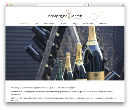 WordPress website template Enfold - champagnesecrets.com
