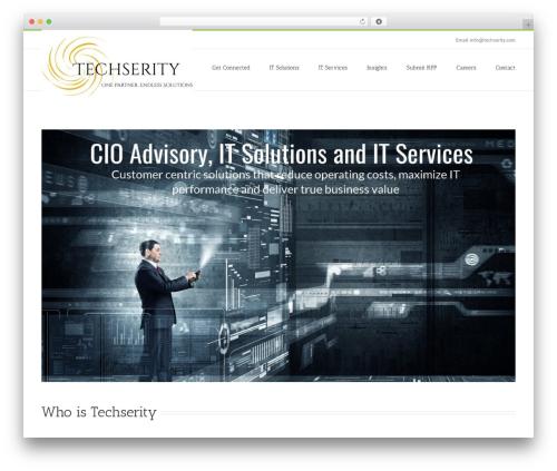 Avada WordPress theme - techserity.com