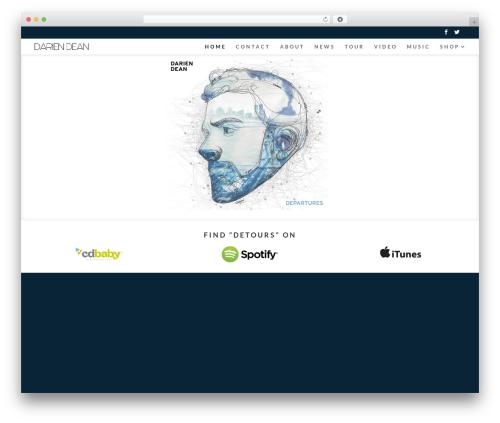 Divi WordPress theme - dariendeanmusic.com