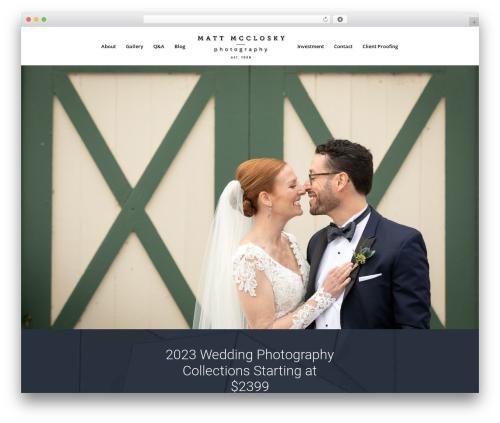 Divi WordPress wedding theme - 518wedding.com