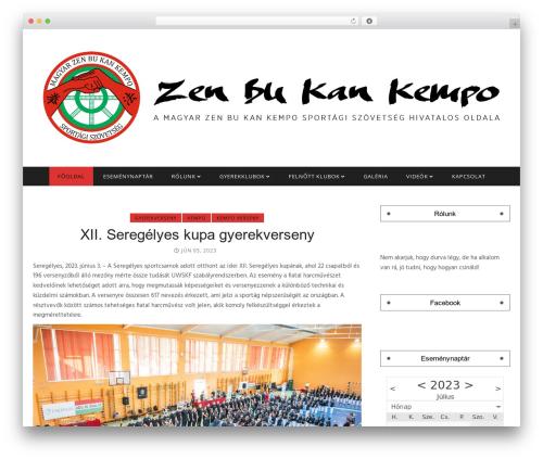nanopress WordPress theme design - zenbukankempo.com