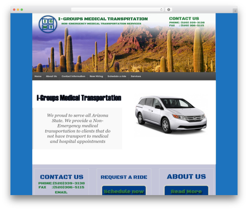 Responsive template WordPress - igroupsmedicaltransportation.com