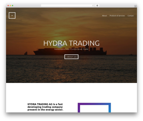 Skylar theme WordPress - hydra-trading.com