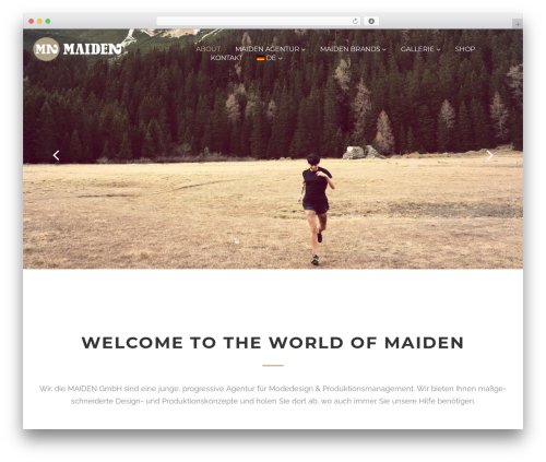 WordPress theme Cherry Framework - maiden-agentur.com