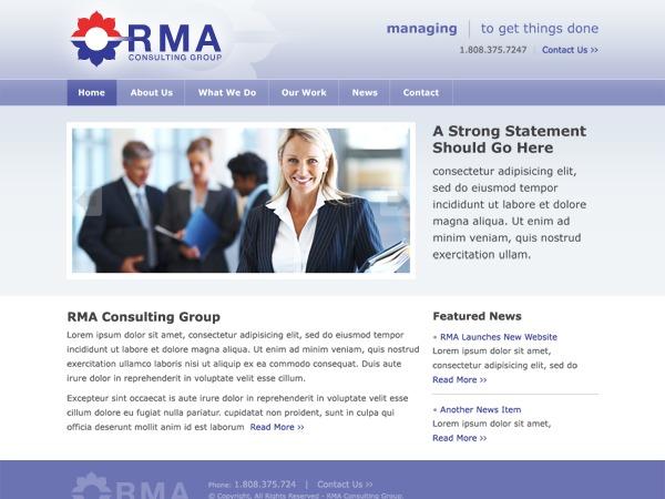 WordPress theme RMA Consulting Group