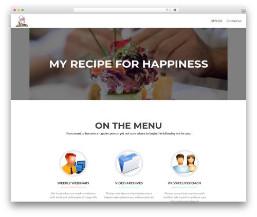 WordPress theme Zerif Lite - myrecipeforhappiness.com