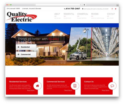 Arkitekt company WordPress theme - qualityohio.com