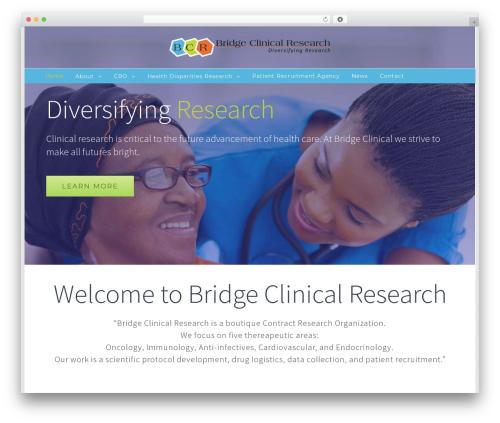 Avada template WordPress - bridgeclinical.com