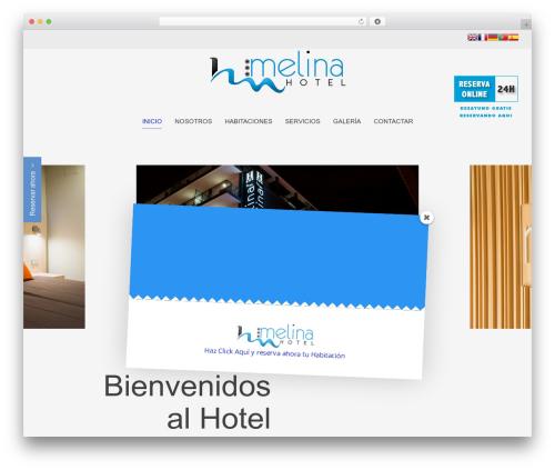 Chester best hotel WordPress theme - hotelmelina.com