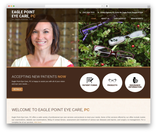 Coffee Pro top WordPress theme - eaglepointeyecare.com
