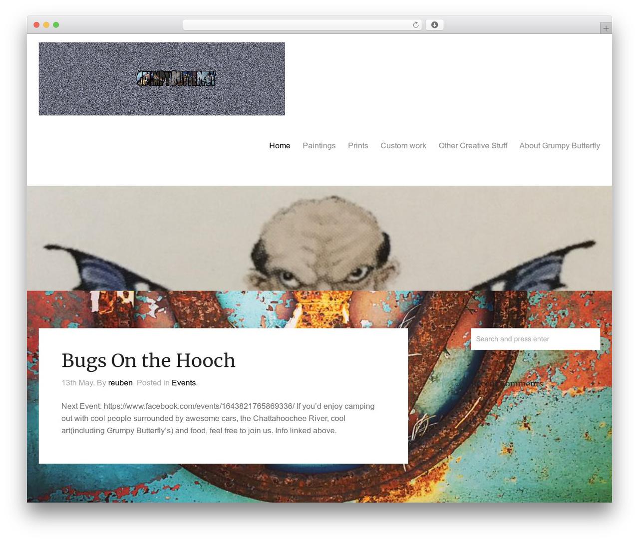 Oren WordPress template - grumpybutterfly.com