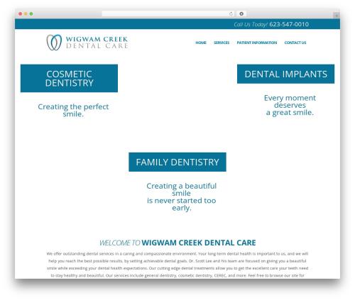 Theme WordPress DentalCMO Build (2013) - wigwamcreekdental.com