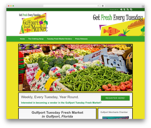 WordPress website template Modular - gulfporttuesdayfreshmarket.com
