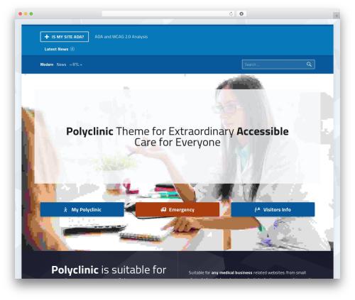WP template Polyclinic - ismysiteada.com