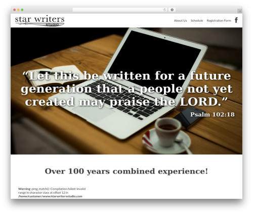 Zerif Lite theme WordPress free - starwritersstudio.com