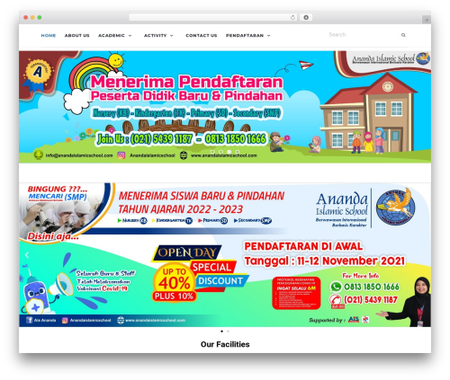 Activello best free WordPress theme - anandaislamicschool.com