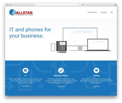 Avada premium WordPress theme - teamallstar.com