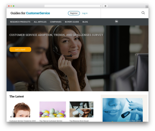 Guides for CRM Wordpress Theme template WordPress - guidesforcustomerservice.com