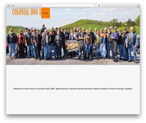 MotoBlog WordPress blog theme - colonialhog1381.com