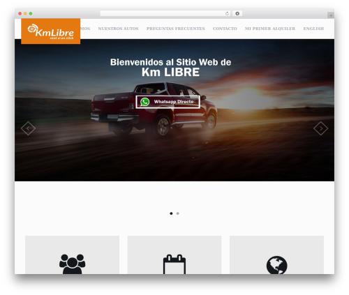 RentIt WordPress website template - kmlibre.com