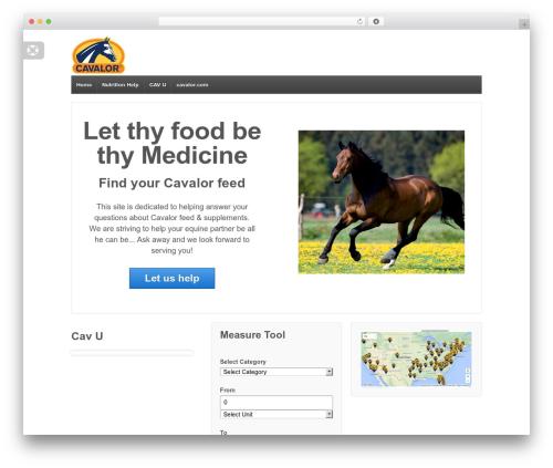 Responsive free WP theme - cavalornutrition.com