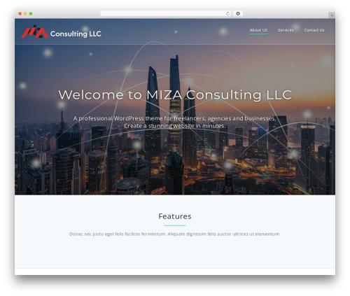 WordPress theme Parallel Pro - mizaconsulting.com