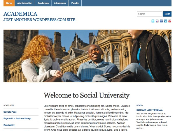 Academica - WordPress.com WP template