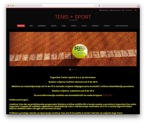 Best WordPress template Conica - tenisisport.hr