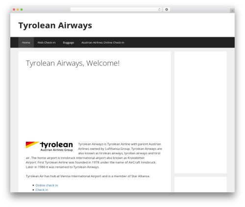 Best WordPress template GeneratePress - tyrolean-airways-austrian.com