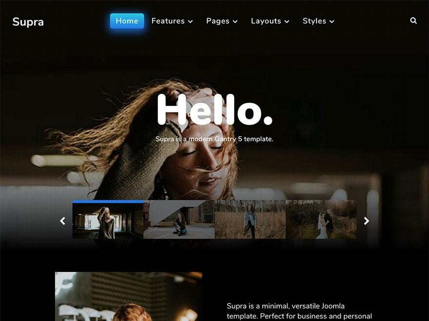 Best WordPress theme Supra