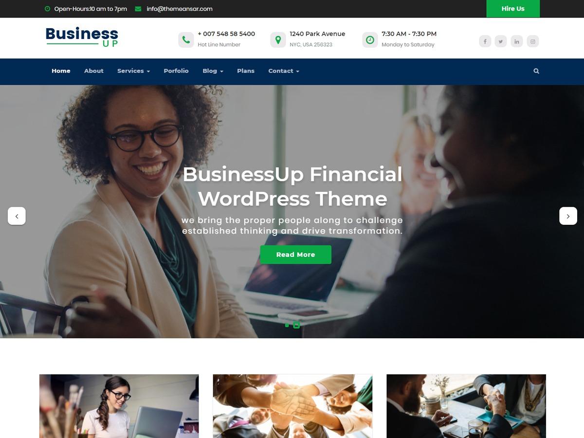 Businessup WordPress store theme