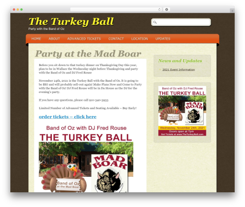 ePublishing WordPress theme - theturkeyball.com