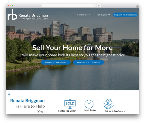 Equity WordPress page template - thearlingtonexpert.com