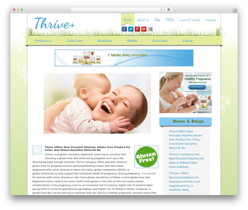 Genesis WordPress page template - thriveplus.net
