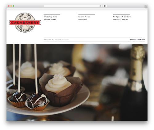 Hati premium WordPress theme - thecakabakery.com