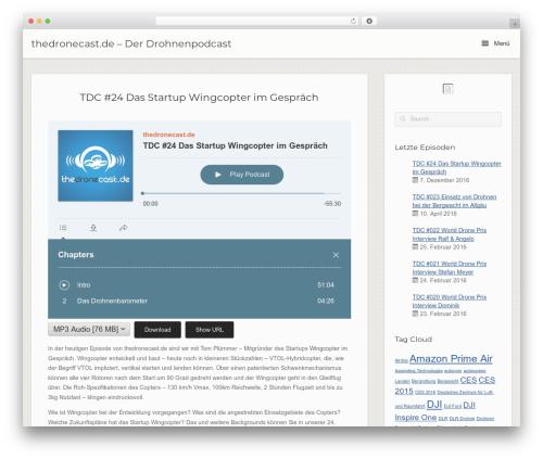Free WordPress Podlove Podcast Publisher plugin - thedronecast.de