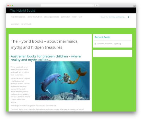 Inkness WordPress template free - thehybridbooks.com