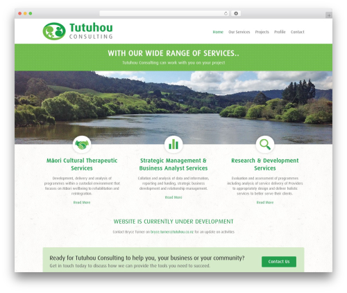 Interface free website theme - tutuhou.co.nz