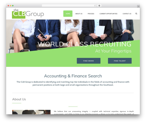 Jupiter best WordPress theme - theclbgroup.com
