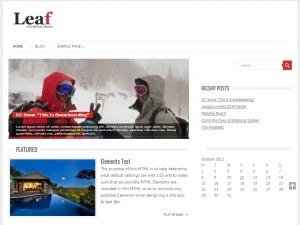 Leaf WordPress page template