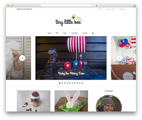 Little Elegancé WordPress theme design - tinylittlebee.com