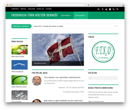 Magazine WordPress news template - ftkd.dk