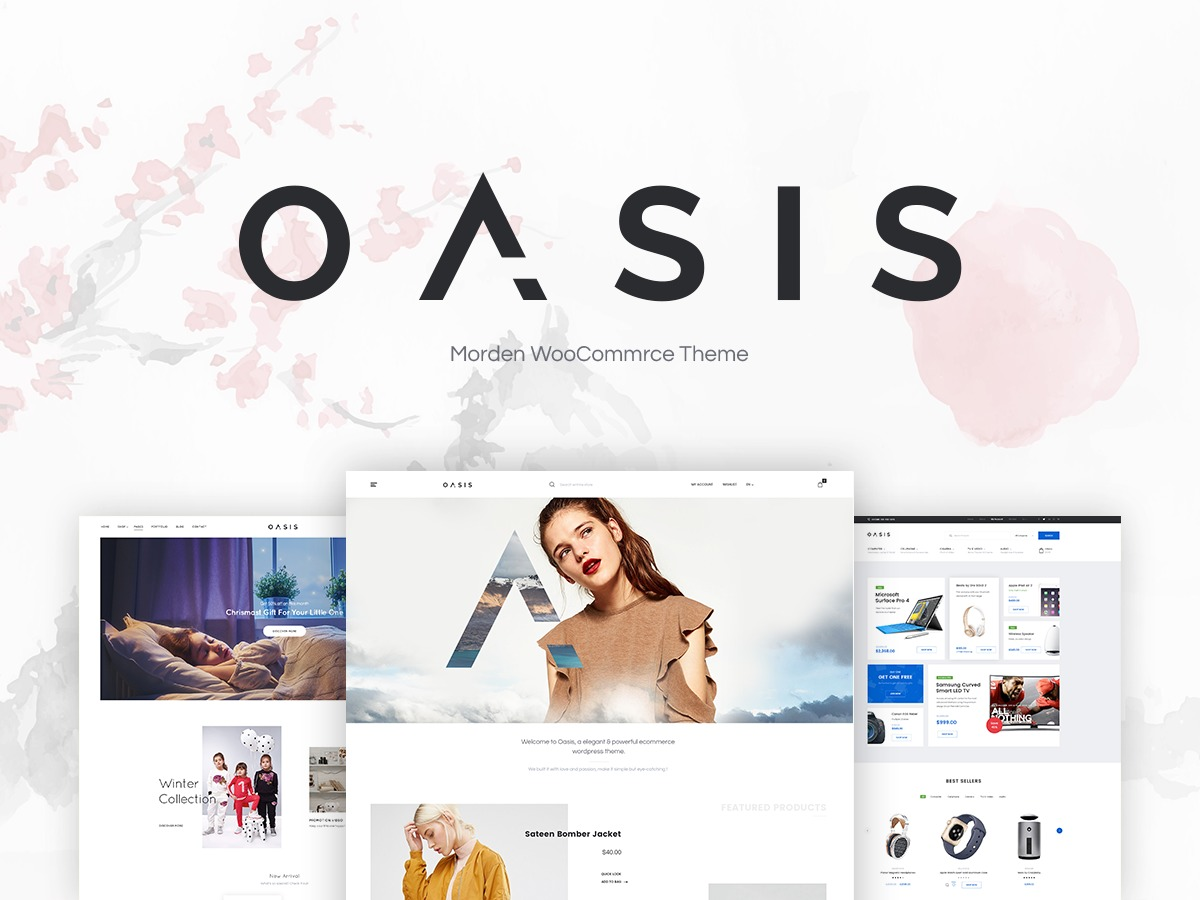 Oasis premium WordPress theme