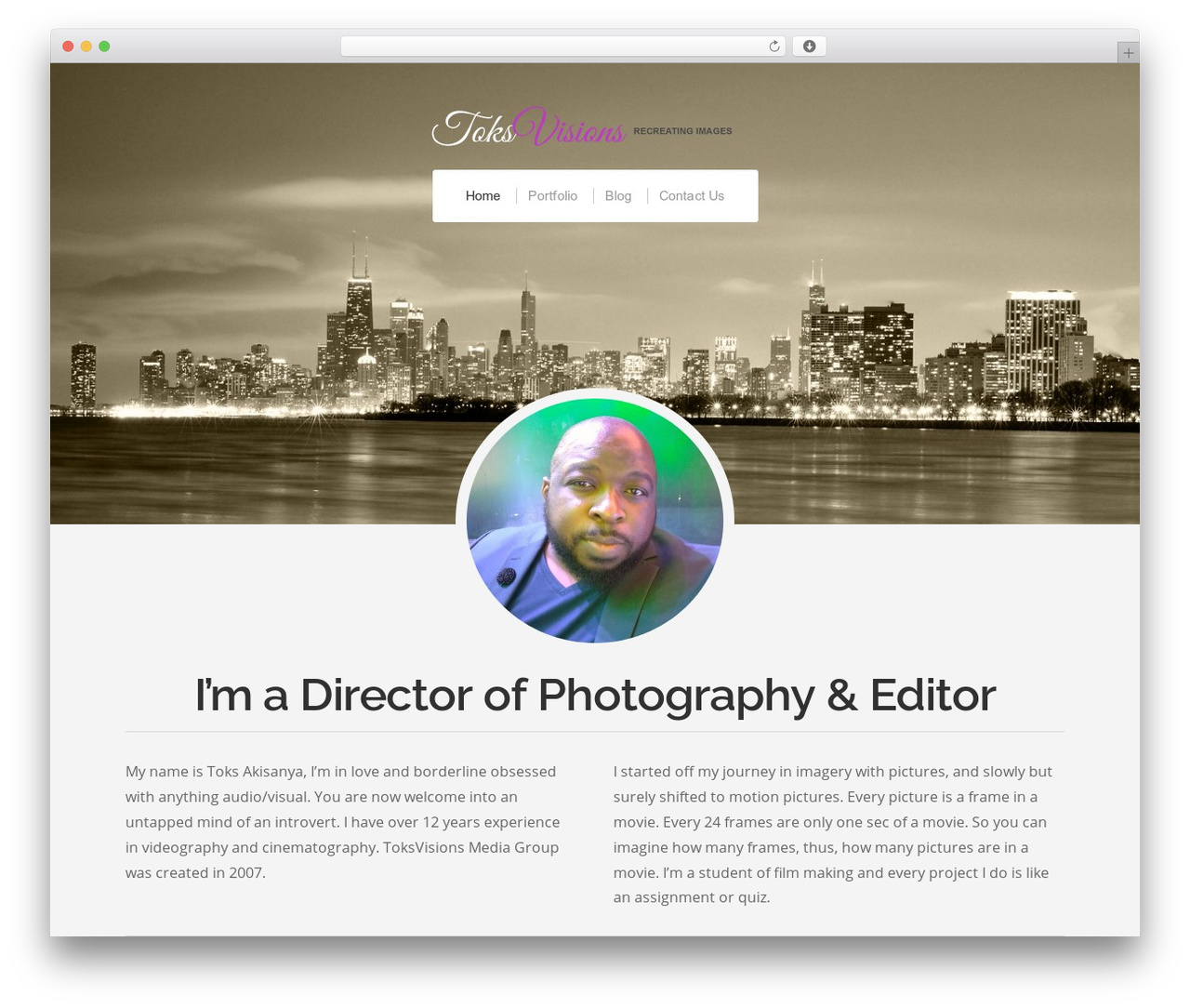 Organic Profile WordPress gallery theme - toksvisions.com