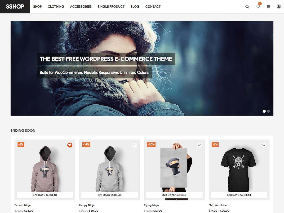 SShop WordPress blog theme
