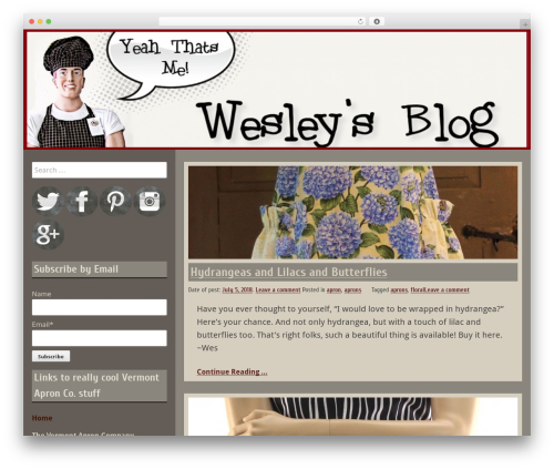 Template WordPress Blog Fever - theapronedman.com