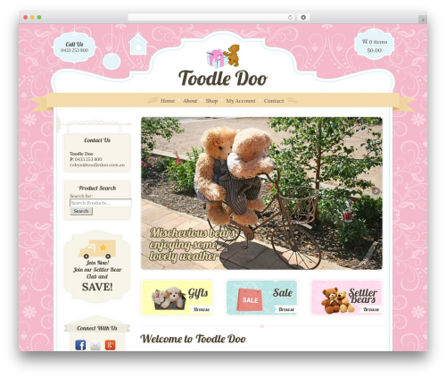 Template WordPress Boutique Kids - toodledoo.com.au