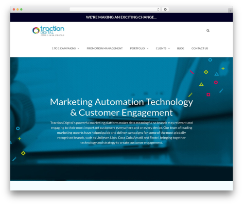 Theme WordPress TheFox - tractiondigital.com